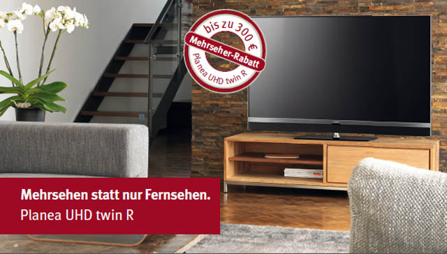 300 Euro Rabatt Metz Planea UHD twin R TV Sonderedition HDR