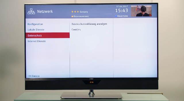 Metz TV Netzanbindung Datenschutz