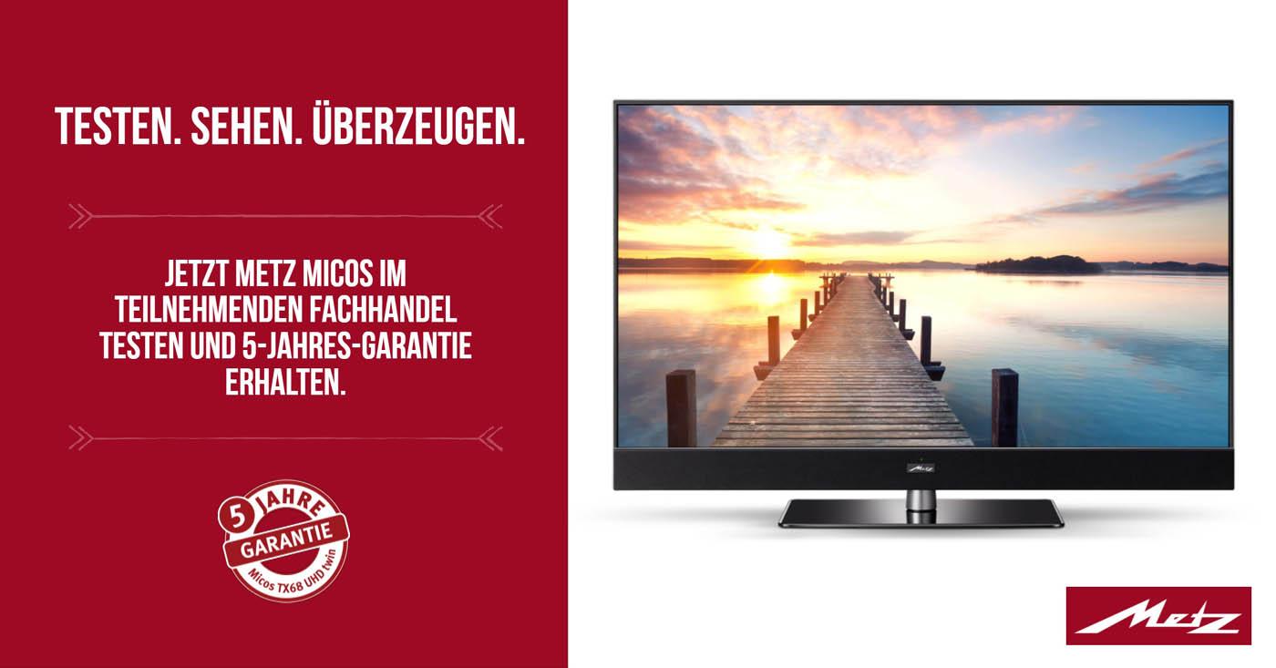 Metz Micos UHD TV testen