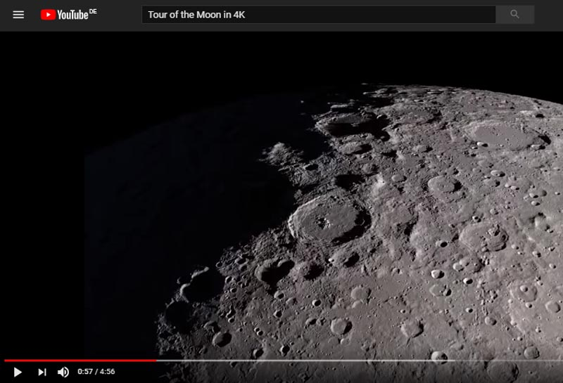 NASA:Tour of the Moon in 4k