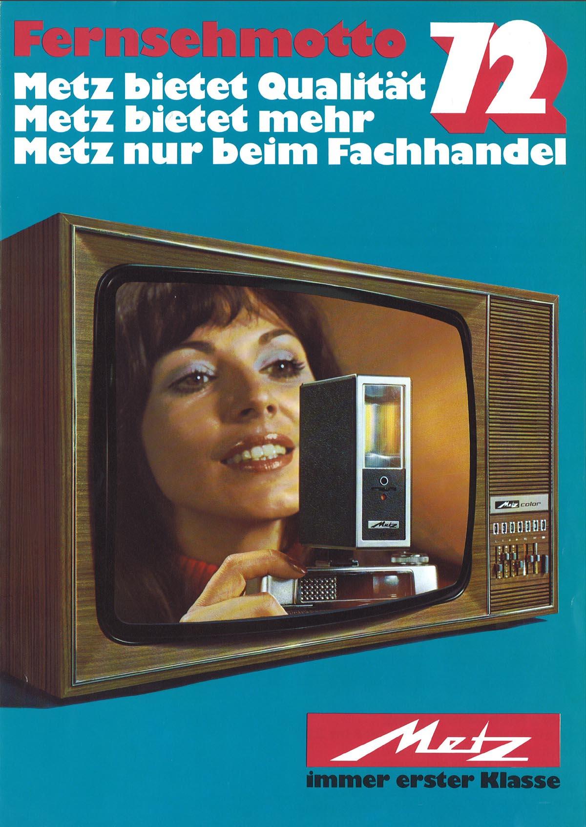 seit 1964 - Metz nur im Fachhandel